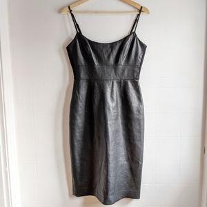 BCBG Black leatherette dress